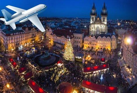 Предколедна ПРАГА! Самолетен билет за полет България Ер + 3 нощувки със закуски в хотел NH Praha 4* + Пешеходна Обиколка на ПРАГА с екскурзовод за 760 лв. на Човек