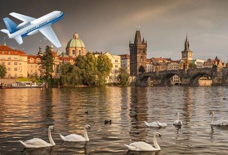 През 2018 в ПРАГА! Самолетен билет за полет България Ер + 3 нощувки със закуски в хотел 4* + Пешеходна Обиколка на ПРАГА