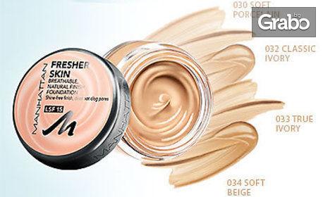 Фон дьо тен за лице Manhattan Fresher Skin, плюс бонус - спирала NYC Lovatics by Demi Mascara