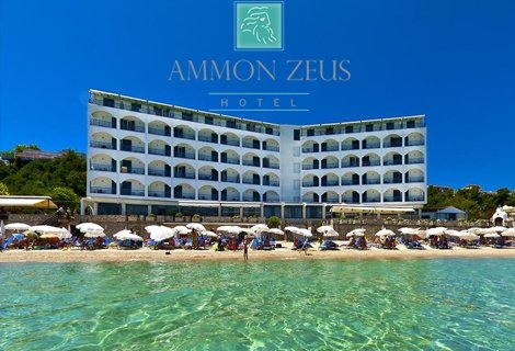 ЛЯТО, Гърция,  хотел Ammon Zeus 4* на първа линия: 5 нощувки със Закуски и ВЕЧЕРИ за 439 лв. на Човек