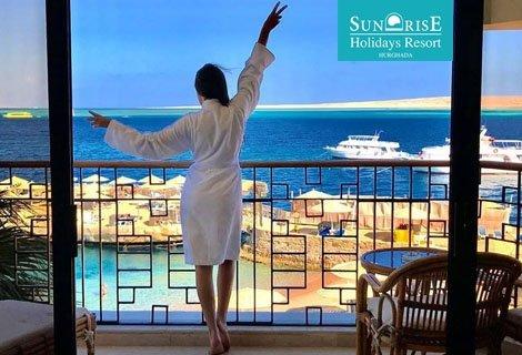Почивка В ЕГИПЕТ, ХУРГАДА, хотел Sunrise Holidays Resort 5* ONLY ADULTS: ЧАРТЪРЕН ПОЛЕТ + 7 нощувки ALL INCLUSIVE на цен