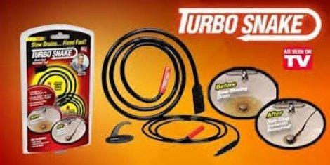 Отпушваща спирала Turbo Snake - Тайната на водопроводчиците сега за 2.90 лв