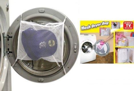 Елиминирайте необходимостта от пране на деликатни  дрехи на ръка с мрежа-предпазител  за пране Mesh Dryer Bag само за 1.
