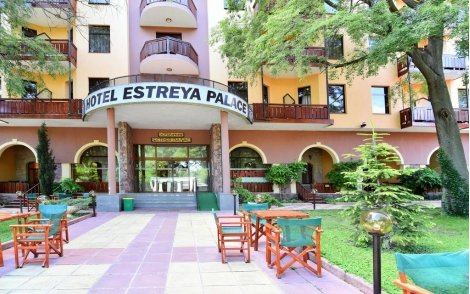ЛЯТО в Хотел Estreya Palace 4*, СВ. СВ. КОНСТАНТИН И ЕЛЕНА: 1 нощувка на база All Inclusive + Басейн, Чадър и Шезлонг за