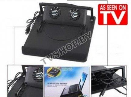 Идеално решение за Вашия лаптоп - Notebook охладител с регулируема стойка с 2 вградени вентилатора само за 7.90 лв