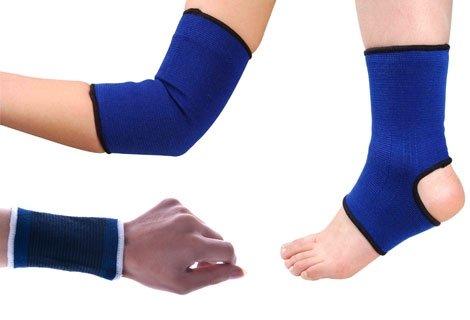 Кажете сбогом на болката  в глезените, коленете, лактите и китките с ластичен протектор сега на специална цена от 1.90 лева за 2 броя.