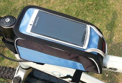Удобно! Чантичка за рамка на велосипед Smart Bike - за съхранение на вашия смартфон, само за 16.90 лв.