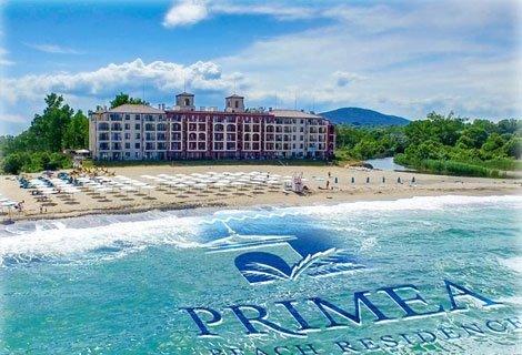 ТОП СЕЗОН в ЦАРЕВО, Primea Boutiqe Hotel! Нощувка в двойна стая с изглед море + БАСЕЙН - 45.60 лв. за ДВАМА
