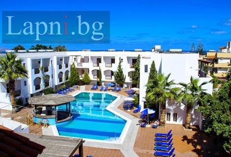 ЛЯТО и Септемврийски празници на остров КРИТ, CHC CLUB LYDA HOTEL 3+*: Самолетен БИЛЕТ с включени летищни такси + 7 нощу
