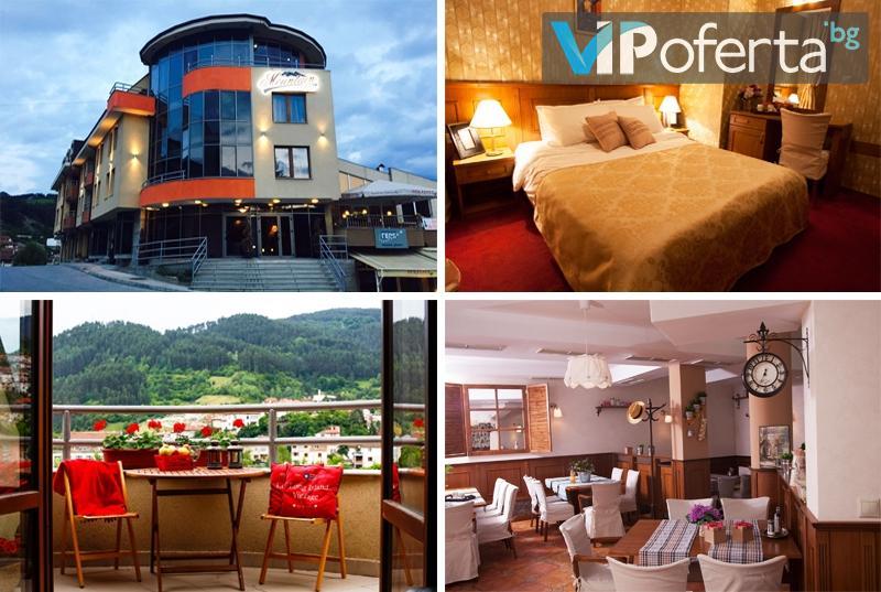 Eднодневен пакет със закуска и вечеря + СПА и ароматно джакузи в Mountain Boutique Hotel & SPA***, Девин