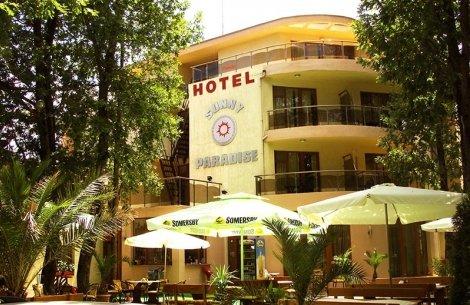 КИТЕН, хотел Sunny Paradise 3*: Нощувка със Закуска + чадър и шезлонг на цена от 19.50 лв. или Нощувка със Закуска + Веч
