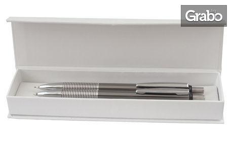 Гравирани с послание по избор химикалка, комплект с пиромолив или запалка - без или със снимка