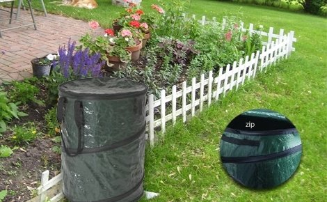 Украсете любимата си градина със сгъваем кош за трева, листа и други градински отпадъци само за 8.90 лв