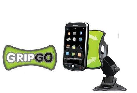 Говорете и шофирайте безопасно с универсалната стойка за телефон, таблет или навигация Grip Go само за 4,90 лв.