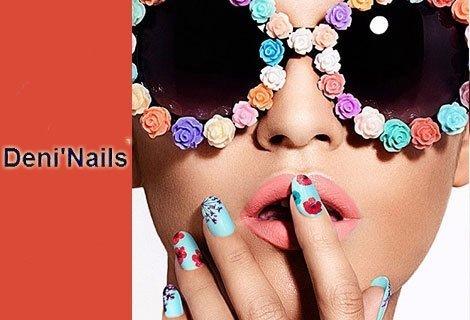 Deni Nails Room, на нов адрес!  ТОП ЦЕНА от 14.40 лв. за Дълготраен маникюр с гел лак Bluesky : Класически, неонов, омбр