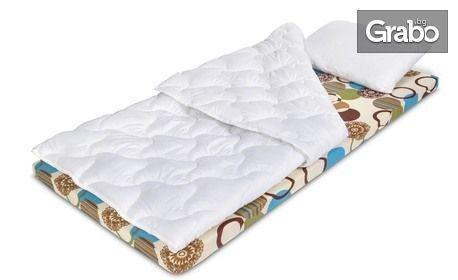 Топ матрак и олекотена завивка, плюс една или две възглавници, с безплатна доставка