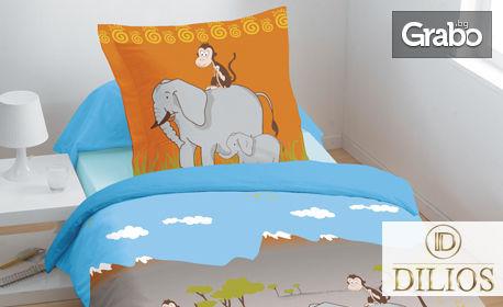 Детски спален комплект от Ранфорс - десен по избор