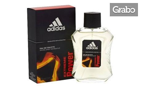 Мъжки комплект с тоалетна вода Adidas по избор и дезодорант Custo Barcelona