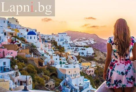 Екскурзия до Остров Санторини и Атина - екскурзия със самолет и автобус! Транспорт + 3 нощувки със Закуски на остров Сан