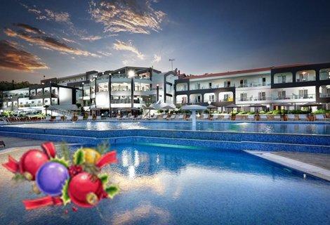 НОВА ГОДИНА 2019 на о-в ТАСОС: 3 нощувки със закуски и ВЕЧЕРИ + Празнична Новогодишна вечеря в Hotel Dream Palace 4* само за 374 лв. на ЧОВЕК
