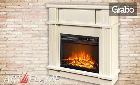 Електрическа камина Lorance с имитация на горящо огнище