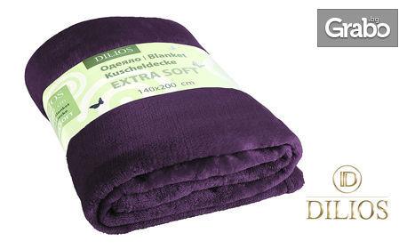 Меко и пухкаво одеяло от полиестер - в цвят по избор
