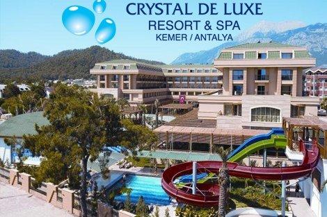 Ранни записвани за Лято 2019 в ТУРЦИЯ, АНТАЛИЯ! Чартърен полет + 7 нощувки на база ULTIMATE ALL INCLUSIVE в хотел CRYSTAL DE LUXE RESORT&SPA 5 * от 904 лв. на Човек!