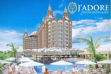 РАННИ ЗАПИСВАНИЯ ЛЯТО В АНТАЛИЯ, J'ADORE DELUXE HOTEL AND SPA 5*: 7 нощувки ALL INCLUSIVE + АВТОБУСЕН ТРАНСПОРТ на цени от 522 лв. на ЧОВЕК