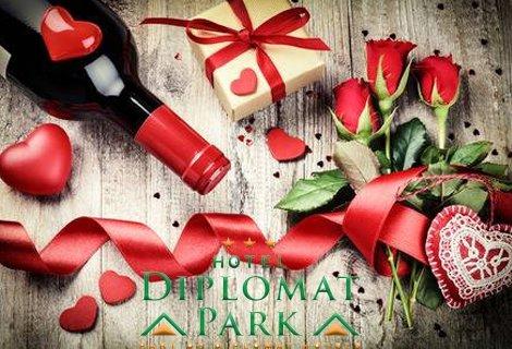 Свети Валентин в Дипломат Парк 3*: 1 Нощувка + 1 Закуска+ 1 Празнична Вечеря с DJ + Комплименти за 69 лв на ЧОВЕК