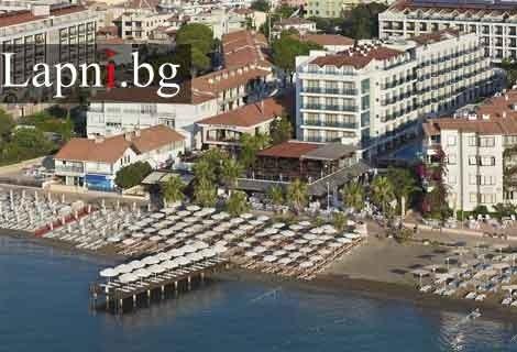 Цяло Лято 2019 в Мармарис, хотел EMRE HOTEL 4* на брега: 5 нощувки ULTRA ALL INCLUSIVE + ТРАНСПОРТ на цени от 354 лв. на