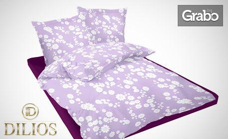 Единичен, двоен или макси спален комплект от ранфорс в десен и размер по избор