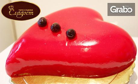 За Свети Валентин! Торта във формата на сърце, модел по избор