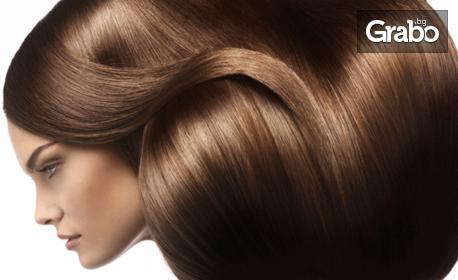 Терапия за коса по избор, плюс оформяне със сешоар