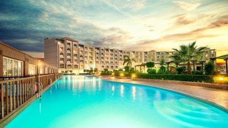 ЦЕНА от 1119 лв. за Египет, хотел CAESAR PALACE HOTEL & AQUA PARK 5*: Чартърен Полет с трансфери + 7 нощувки ULTRA ALL INCLUSIVE + Чадъри и шезлонги на басейна и на плажа на хотела!