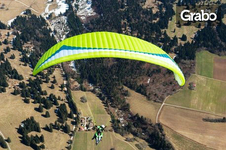 Панорамен тандемен полет с парапланер от Шуменското плато или над морето, плюс HD заснемане