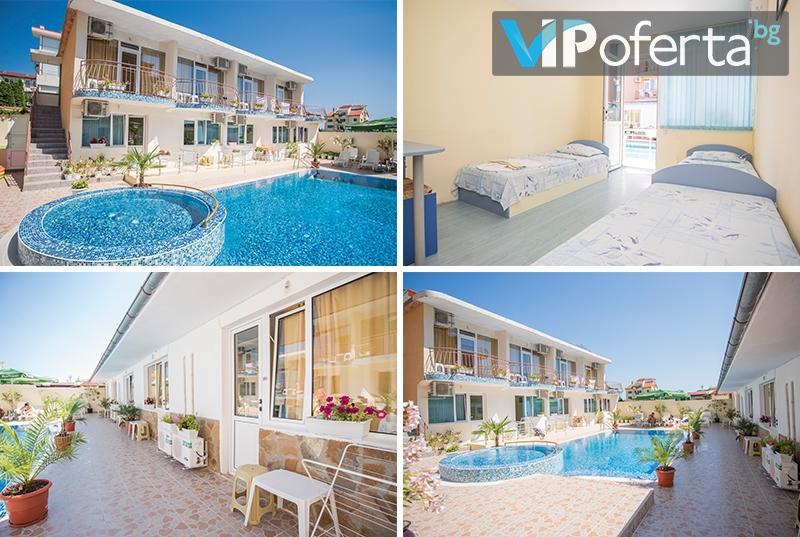 Еднодневен пакет + ползване на басейн в Семеен Хотел Бохеми, Равда