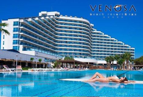 Лято 2019, ДИДИМ, хотел Venosa Beach Resort & Spa 5*! Автобусен ТРАНСПОРТ + 7 нощувки на база  ALL INCLUSIVE /24 часа/  на цени от 632.50 лв. на ЧОВЕК!