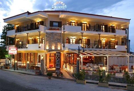 ЛЯТО, ХАЛКИДИКИ, CALYPSO HOTEL 3*:  нощувка със Закуска в двойна Икономична стая - 66 лв. За Двама + Дете до 5.99 год