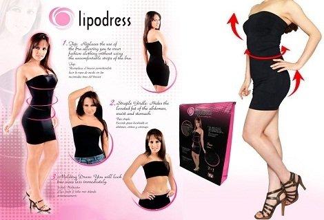 Изпълни мечтата си за тънка и секси фигура. Тайната за перфектно женско тяло е на стягащата рокля Lipodress! Сега само за 6.90 лв.