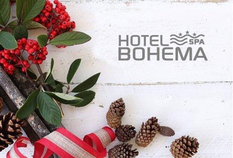 КОЛЕДА в  Хотел БОХЕМА: 3 Нощувки със закуски, ВЕЧЕРИ + Празнична Вечеря и SPA за 184 лв. на Човек + 3 БАСЕЙНА и МИРО с Минерална вода + НОВ Детски кът