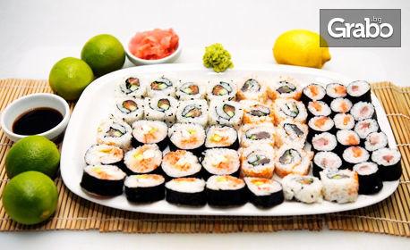 За дома или офиса! Суши сет с 38, 58 или 78 хапки
