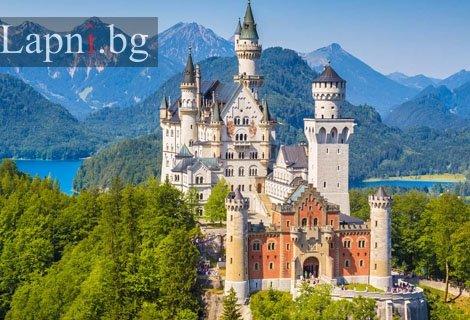 Великолепието на БАВАРСКИТЕ ЗАМЪЦИ, с автобус:  Транспорт + 3 нощувки със закуски в хотели 3 *+ Туристическа програма в Бавария, Мюнхен и езерото БЛЕД за 499 лв.