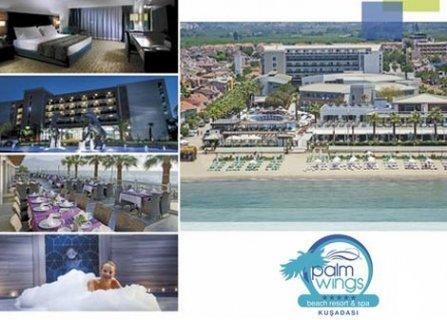 Лято 2020, Кушадасъ, хотел PALM WINGS BEACH RESORT KUSADASI 5*! Транспорт + 7 нощувки на база ALL INCLUSIVE + на цени от 490 лв. на ЧОВЕК!