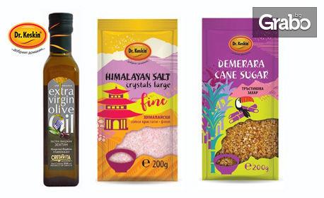 Хранителни продукти за вкъщи! Корнфлейкс, мюсли, зехтин, лимец, нахут, хималайска сол, кафява захар, сладко, тахан, чиа, киноа