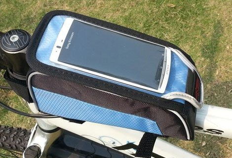 Удобно! Чантичка за рамка на велосипед Smart Bike - за съхранение на вашия смартфон, само за 7.90 лв.