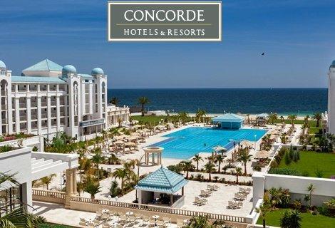 КАПАРО 50 лв! ЛУКС в ТОП-ХОТЕЛ! Почивка в Тунис 2020! 7 нощувки на база ALL INCLUSIVE в хотел Concorde Green Park 5* + Чартърен Полет за 1333 лв.