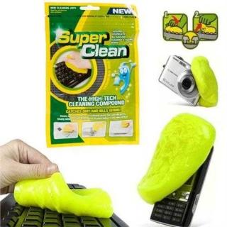 За дома и офиса Super Clean Gel - гел за почистване на клавиатури, телефони, дистанционни и трудно достъпни места само за 2.59 лв