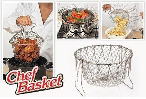 Кухненски помощник Chef Basket 12 в 1 комплект, с които можете да приготвите вкусни и здравословни ястия по бърз, лесен и безопасен начин, само 6.90 лв.