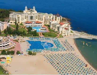РАННИ РЕЗЕРВАЦИИ за Лято 2021 в хотел MARINA ROYAL PALACE 5*, ДЮНИ: Нощувка на база ALL INCLUSIVE на цена от 87.30 лв. на ЧОВЕК!