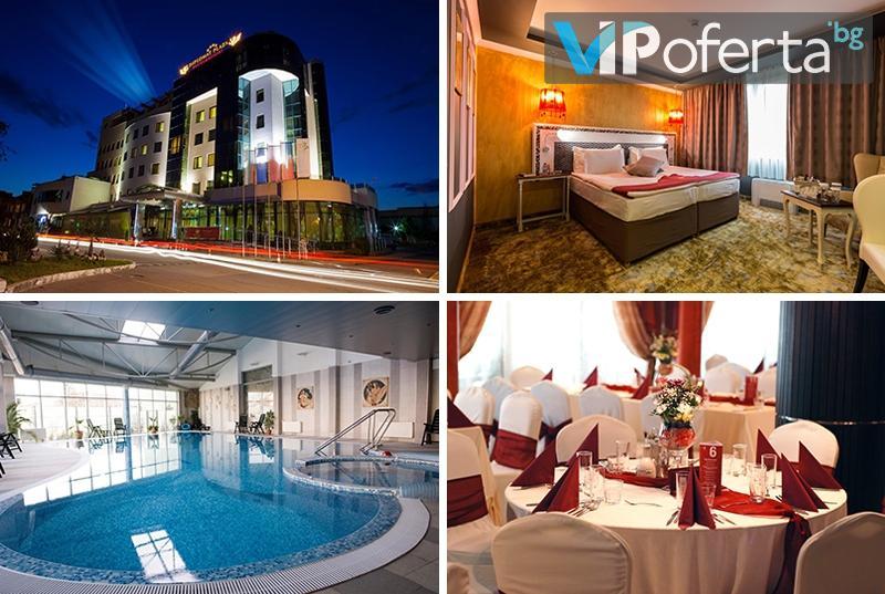Еднодневен пакет със закуска или закуска и вечеря + ползване на СПА в DIPLOMAT PLAZA Hotel & Resort****